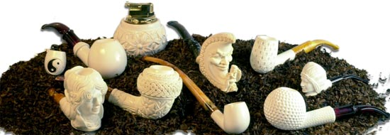 All about meerschaum pipes and our selection of the finest meerschaum pipes in the world, imported directly from Turkey by IK Meerschaum, importers of fine Turkish, hand-carved meerschaum pipes for over 30 years!