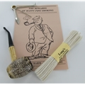 Country Gentleman Corncob Pipe Starter Kit - Bent Pipe with Tobacco Sampler