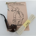 Brindisi of Italy Pipe Starter Kit -  Walnut 605  Bent Pipe Without Tobacco