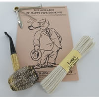 Country Gentleman Corncob Pipe Starter Kit - Bent Pipe without Tobacco