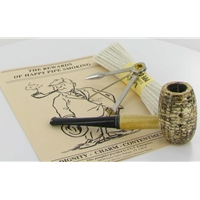Country Gentleman Corncob Pipe Starter Kit - Straight Pipe with Tobacco Sampler