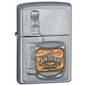 Jim Beam Bottle W/Glass  Zippo
