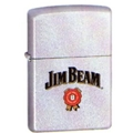 Jim Beam Label/Satin Chrome Zippo